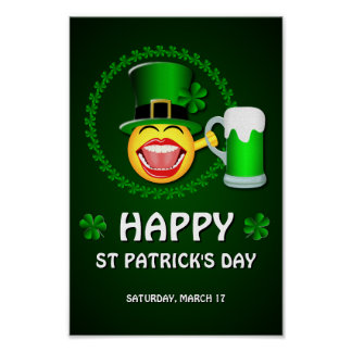 Poster Affiche du jour de St Patrick heureux