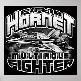 Poster Affiche du modèle BK d'affiche du frelon F/A-18