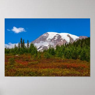 Poster Affiche du mont Rainier