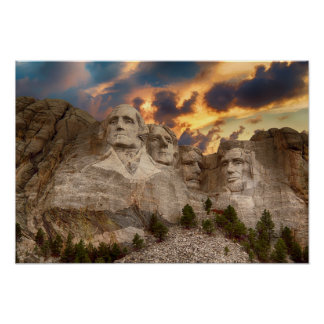Poster Affiche du mont Rushmore