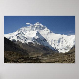 Poster Affiche du Népal de l'Himalaya de camp de base