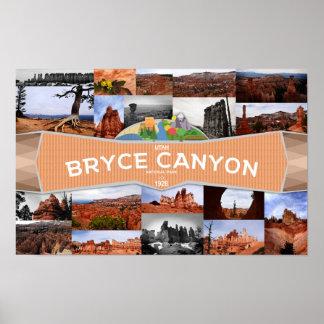 Poster Affiche du parc national de canyon de Bryce