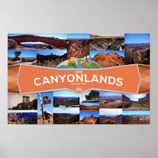 Poster Affiche du parc national de Canyonlands