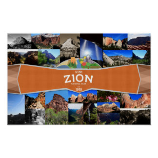 Poster Affiche du parc national de Zion