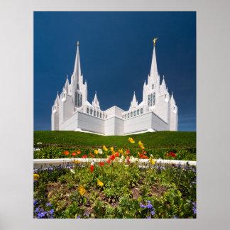 Poster Affiche du temple de San Diego LDS