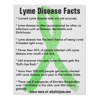 Poster Affiche éducative de faits de la maladie de Lyme