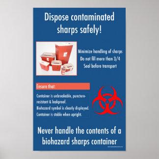 Poster Affiche éducative de sécurité de dièses