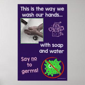 Poster Affiche éducative des informations sur la sécurité
