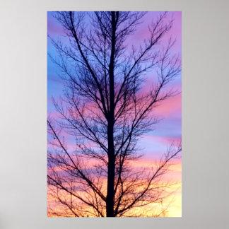 Poster Affiche en pastel de ciel