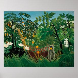 Poster Affiche exotique de paysage de Henri Rousseau