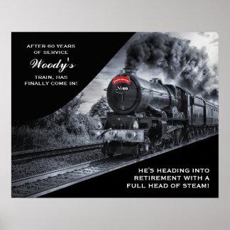 Poster Affiche faite sur commande de train de no. 60 de