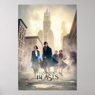 Poster Affiche fantastique de brouillard de ville de