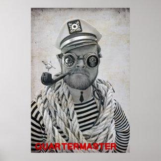 Poster Affiche fraîche superbe de commissaire de pirate !