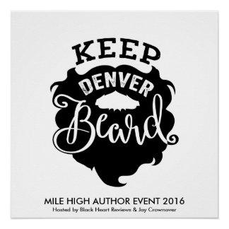 "Poster Affiche ""gardez Denver barbe"" de MHAE"