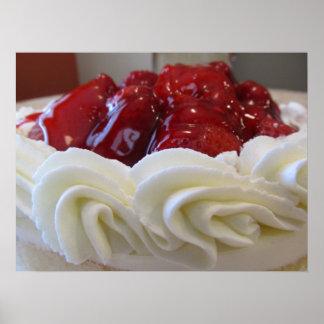 Poster Affiche--Gâteau de fraise