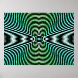 Poster Affiche hypnotique