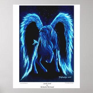 Poster Affiche illuminée par les étoiles de Pegasus de