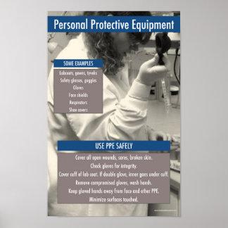 Poster Affiche informationnelle de PPE de laboratoire