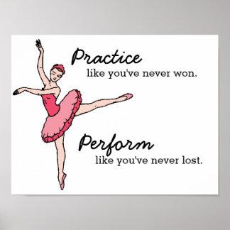 Poster Affiche inspirée de danseur classique