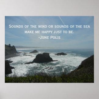Poster Affiche inspirée d'océan