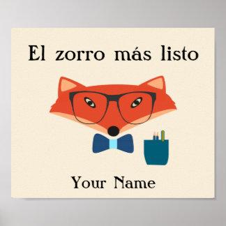 Poster Affiche intelligente de langue espagnole de Fox