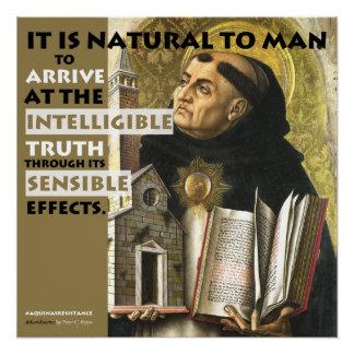Poster Affiche intelligible et raisonnable de résistance