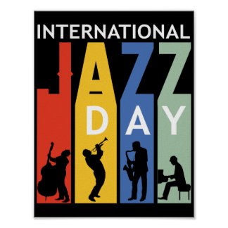 Poster affiche internationale de jour de jazz
