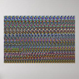"""Poster Affiche """"invisible"""" d'oeil magique 36"""" du ® 3D x"""