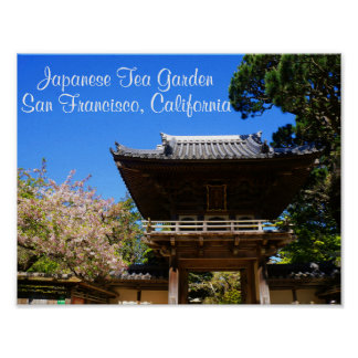 Poster Affiche japonaise de l'entrée #4-2 de jardin de