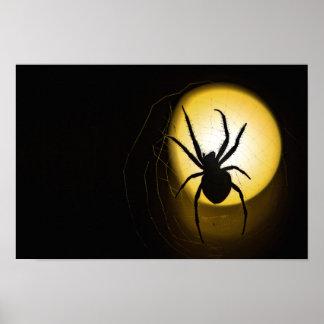 Poster Affiche jaune de beaux-arts de l'araignée | de