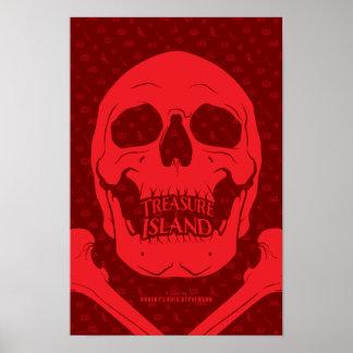 Poster Affiche littéraire d'île de trésor