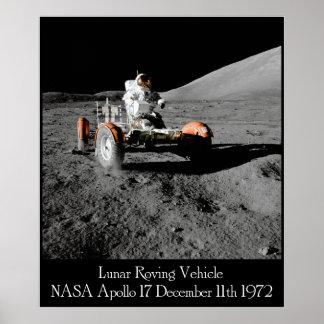 Poster Affiche lunaire de véhicule d'Apollo 17