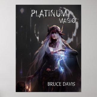 Poster Affiche magique de couverture de livre de platine