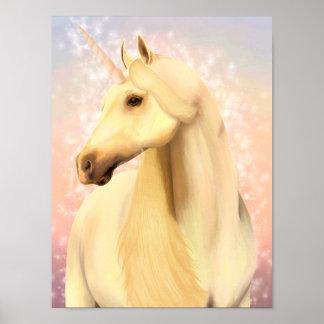Poster Affiche magique de licorne