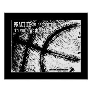 Poster Affiche (mate) du basket-ball #156