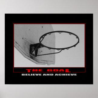 Poster Affiche (mate) du basket-ball #159