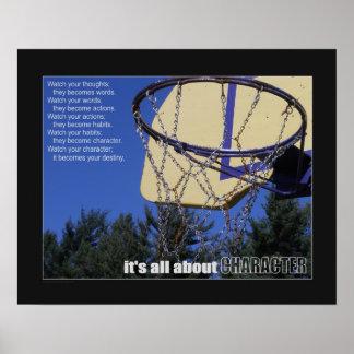 Poster Affiche (mate) du basket-ball #160