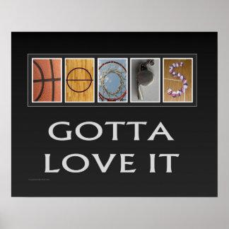 Poster Affiche (mate) du basket-ball #161