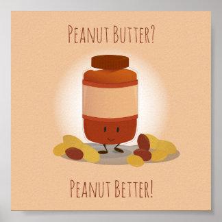 Poster Affiche mignonne du pot | de beurre d'arachide