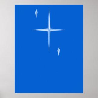 Poster Affiche minimale de vacances de trois étoiles