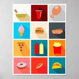 Poster Affiche Minimalista Décoratif Food