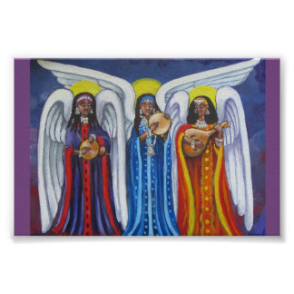 Poster Affiche minuscule de trio de musique d'ange