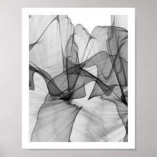Poster Affiche monochrome abstraite   8x10