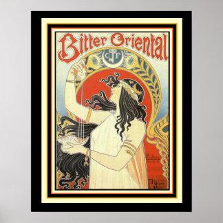 Poster Affiche orientale amère 16 x 20 de Nouveau d'art