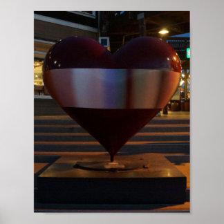 Poster Affiche ouverte de coeur de San Francisco