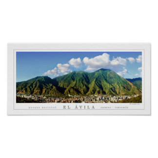 Poster Affiche panoramique large de parc national d'Avila