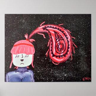 """Poster Affiche parfaite de l'art 11x14 de """"Paisley"""""""