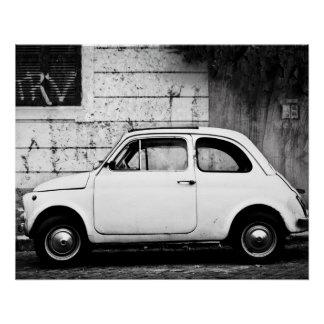 Poster Affiche parfaite   Fiat 500 % pipe% Rome Italie de