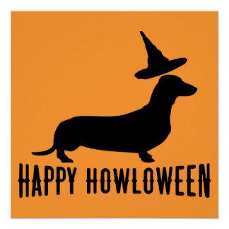 Poster Affiche parfaite heureuse de Howloween de teckel