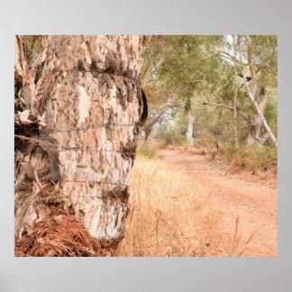 """Poster Affiche pittoresque australienne """"au delà de vieux"""